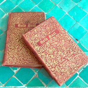 """Two tiny antique books """"Gold Dust"""""""